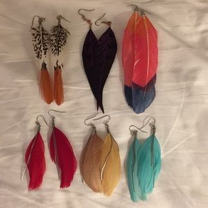 Bundle of Feather Earrings